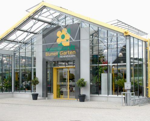 Außenaufnahme und Eingang BlumenGarten Marquardt