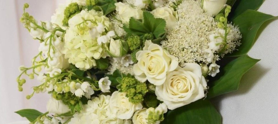 Weißer Brautstrauß