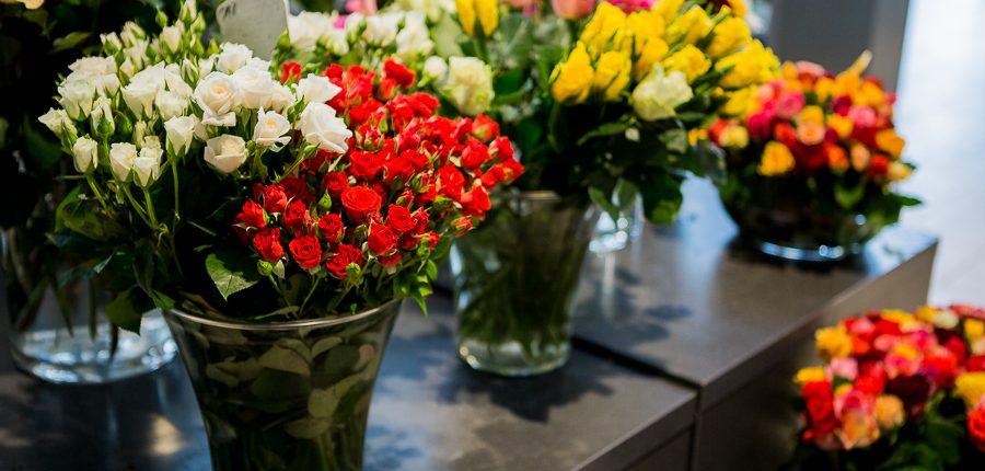 Eine große Auswahl an Schnittblumen