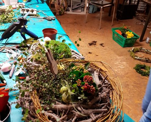 "Workshop ""Frühlingsgefühle"" im BlumenGarten Marquardt in Renningen"