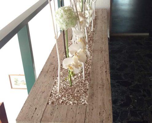 Dekoration eines Treppenhauses durch BlumenGarten Marquardt